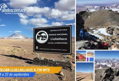 Ascenso volcán Llullaillaco (Cordadas DAV / Andescontact) – Septiembre 2019