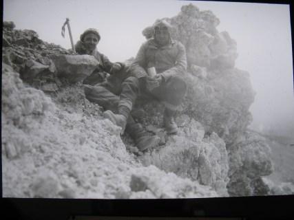 Cumbre del San José. Foto del primer ascenso en 1931.