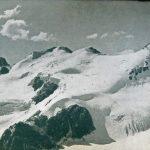 El cerro Cuerno con el enorme campo de hielo, origen del glaciar Horcones Superior. Foto de Lottar Herold