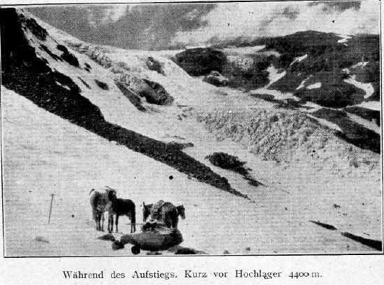 Durante el ascenso, poco antes del campamento alto a 4400m.