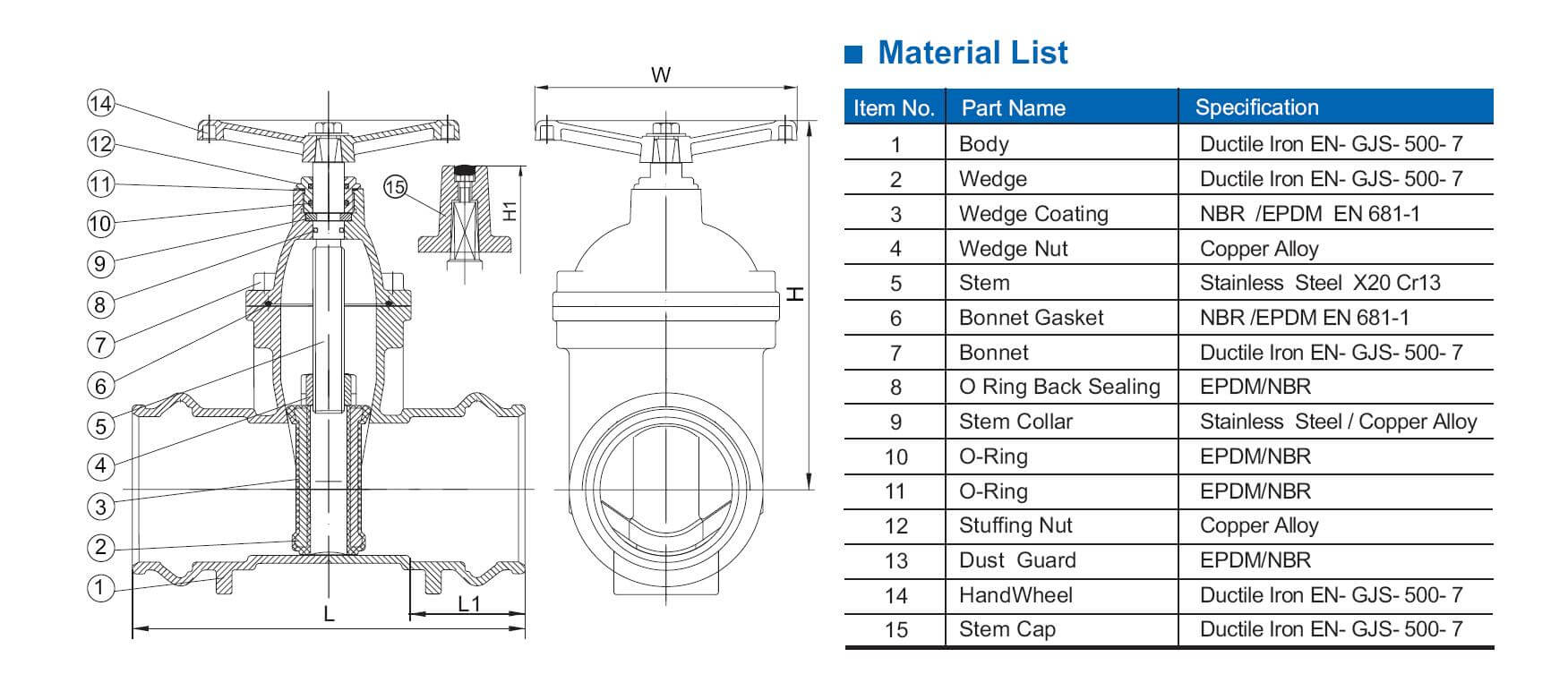 hight resolution of socket type resilient gate valve for pvc pipe