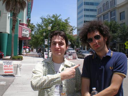 Filmmaker Azazel Jacobs and I, outside the Sarasota Film Festival
