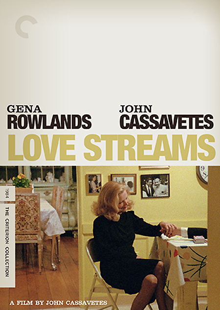 Cover art for the upcoming Criterion Collection reissue of John Cassavetes' swan song Love Streams.