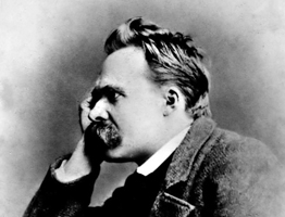 Nietzche looking pensive.