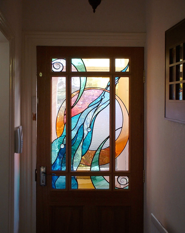 Abstract front door panel