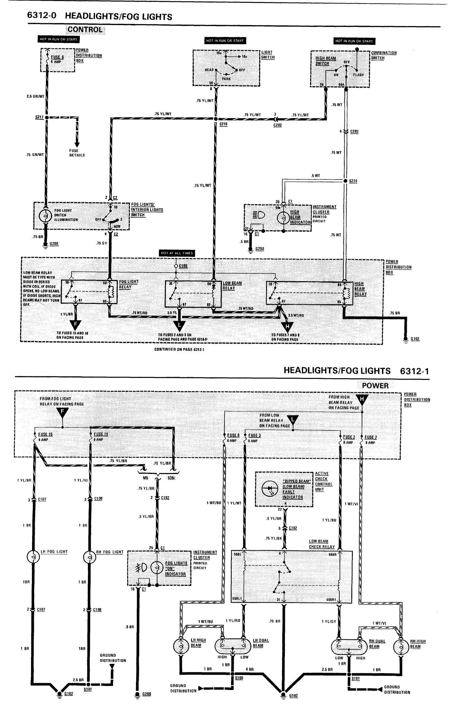 hight resolution of e28 fuse box diagram