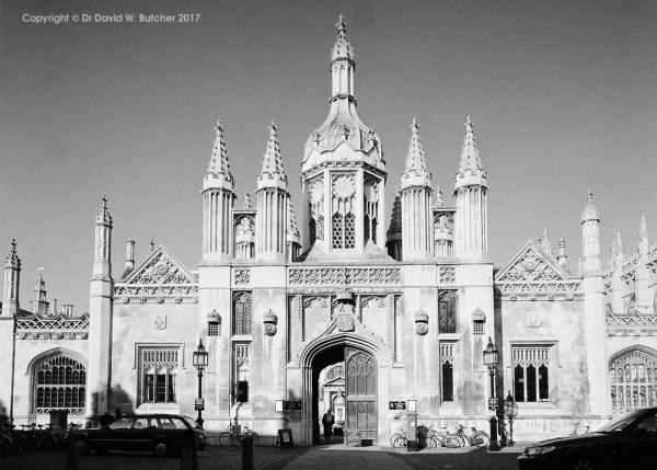 Cambridge Kings College, front entrance, England