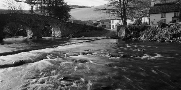 Lorna Doone Farm and River near Lynmouth, Exmoor, England