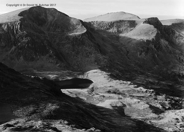 Y Garn and Elidir Fawr from Tryfan, Bethesda, Snowdonia, Wales