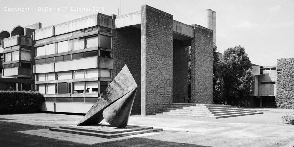 Cambridge Churchill College Front Entrance Sculpture, England