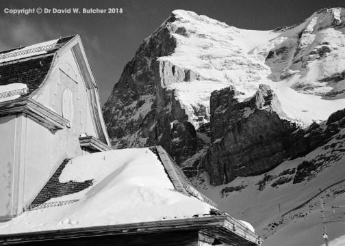 Eiger from Alpiglen above Kleine Scheidegg near Wengen and Grindelwald in Switzerland