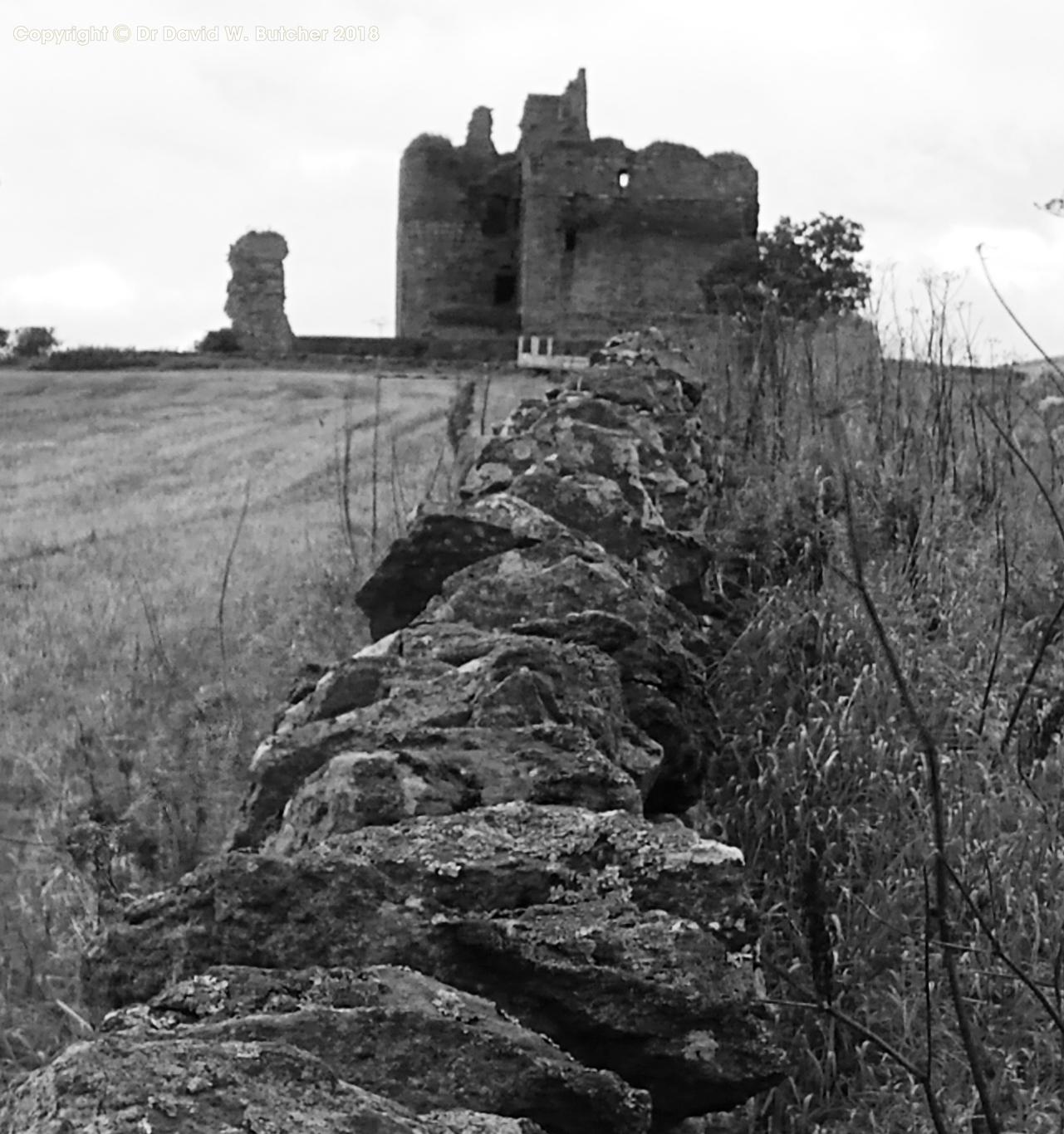 Cessford Castle near Jedburgh, Kerr family stronghold