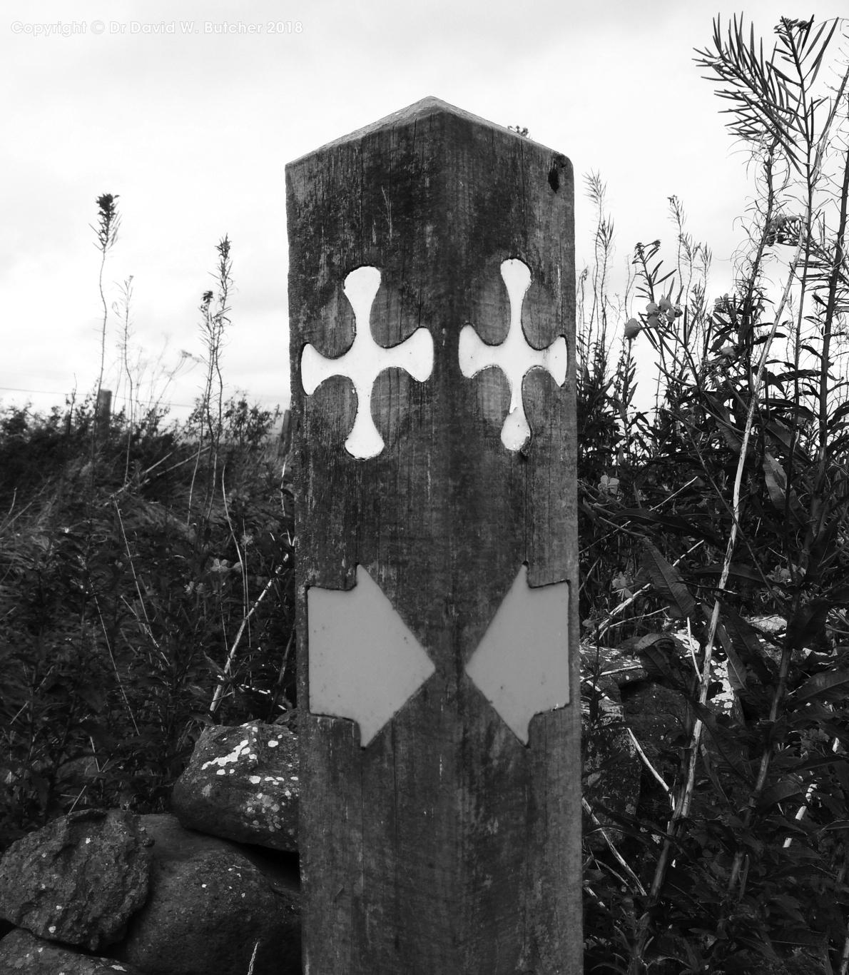 St Cuthbert's Way Sign