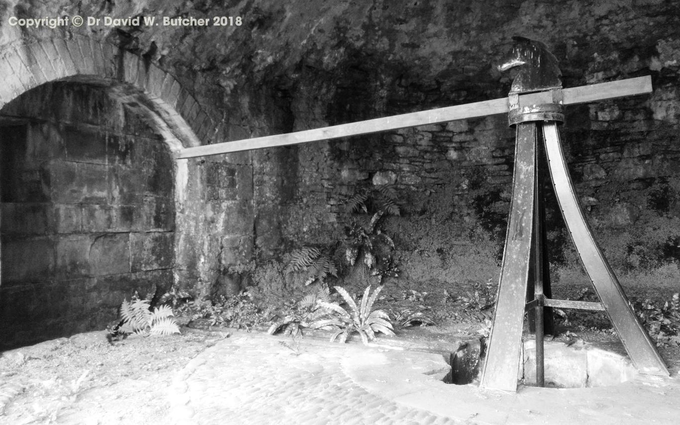 Benrig House well donkey-powered mechanism near St Boswell