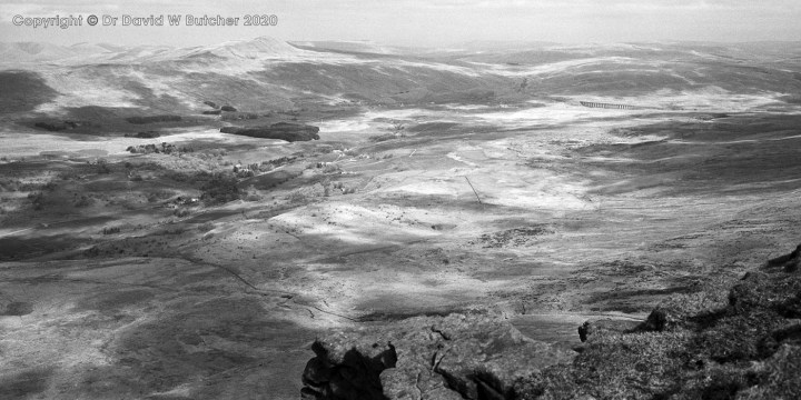 Whernside and Ribblehead Viaduct from Ingleborough, Yorkshire