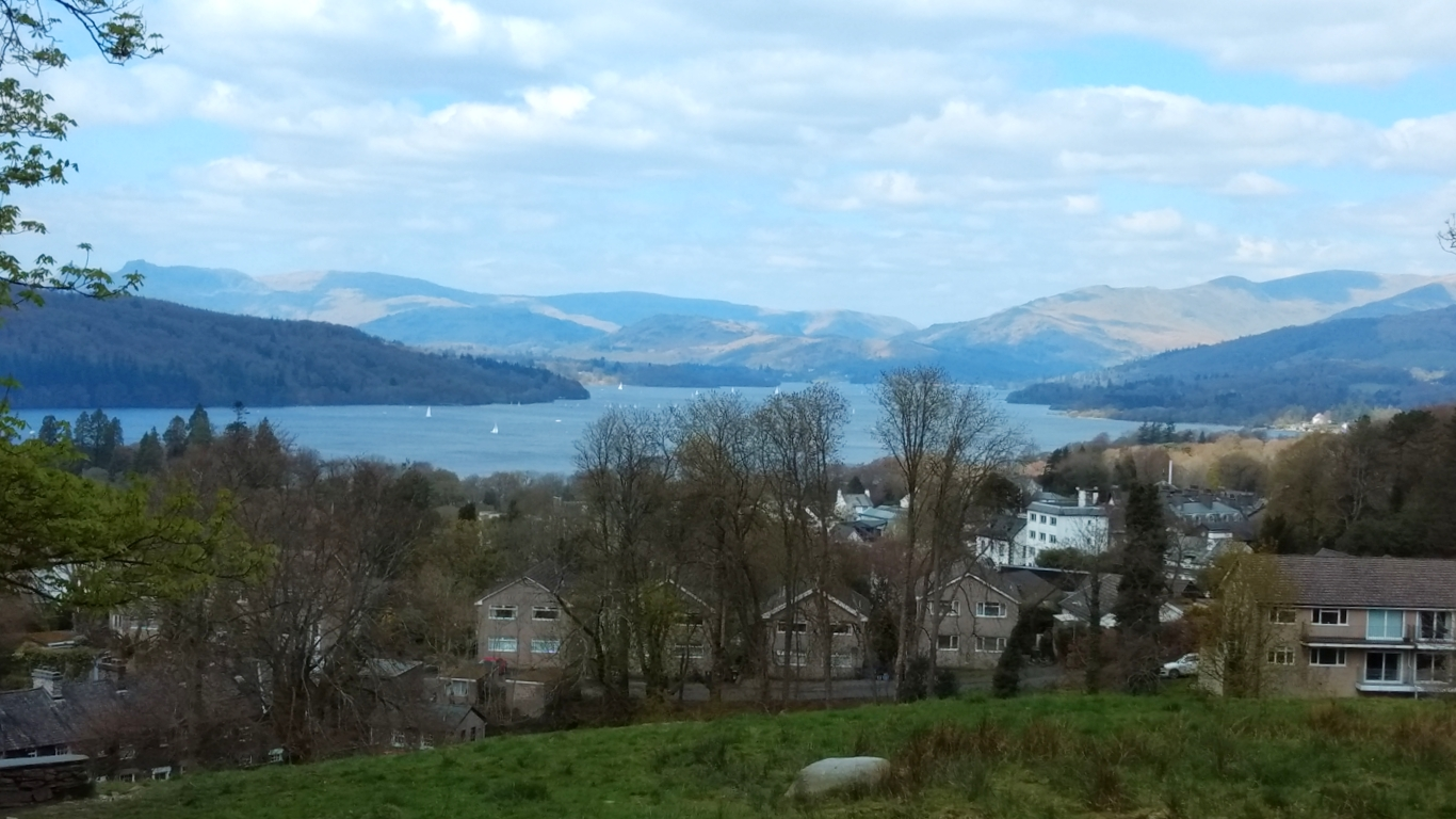 Windermere and Bowness from above