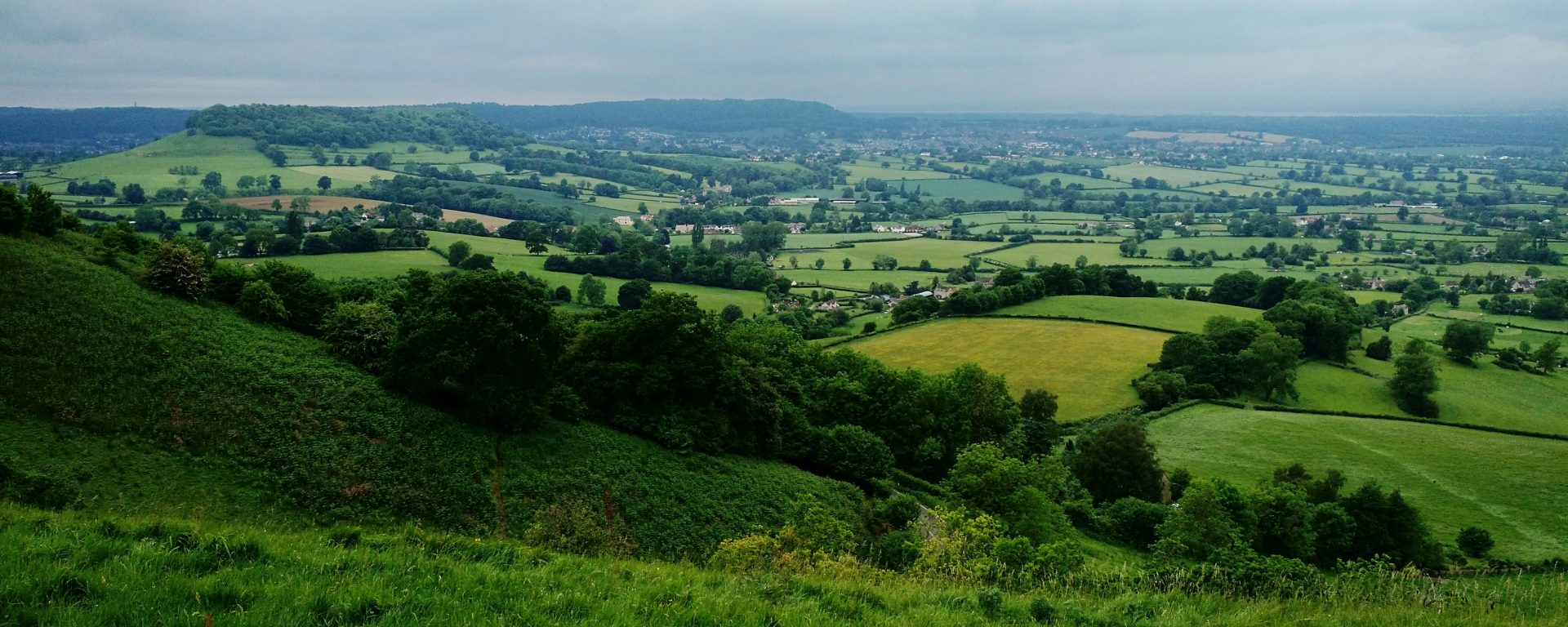 View from near Uley Bury, northeast of Dursley, Cotswolds
