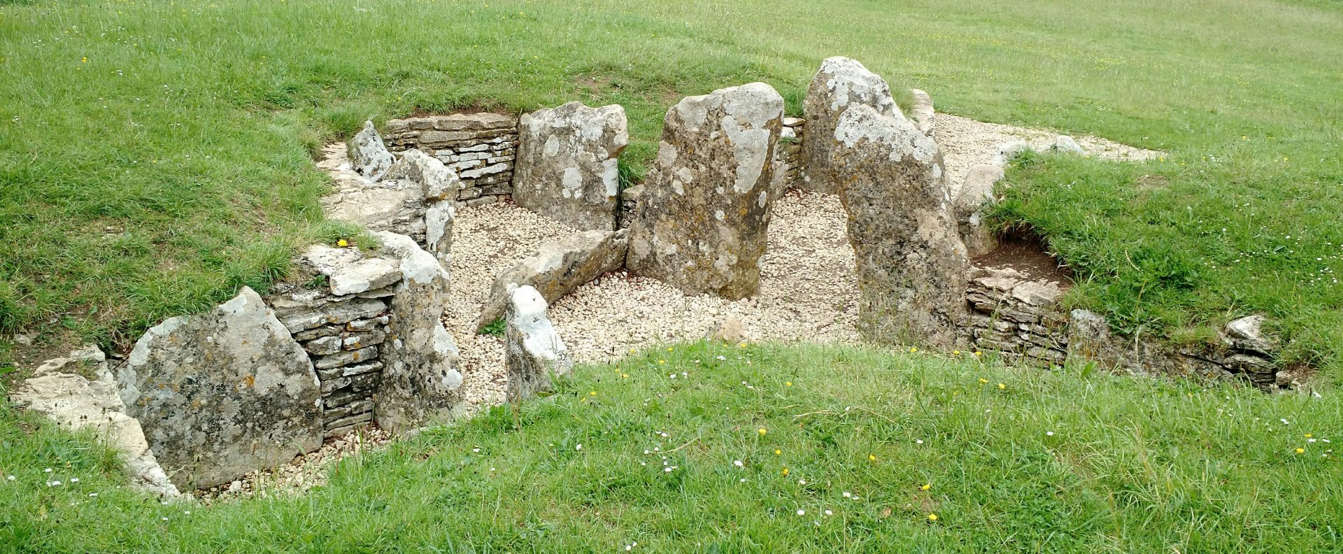 Nympsfield Long Barrow, Coaley Peak, Neolithic 5000 years old burial mound, Cotswolds