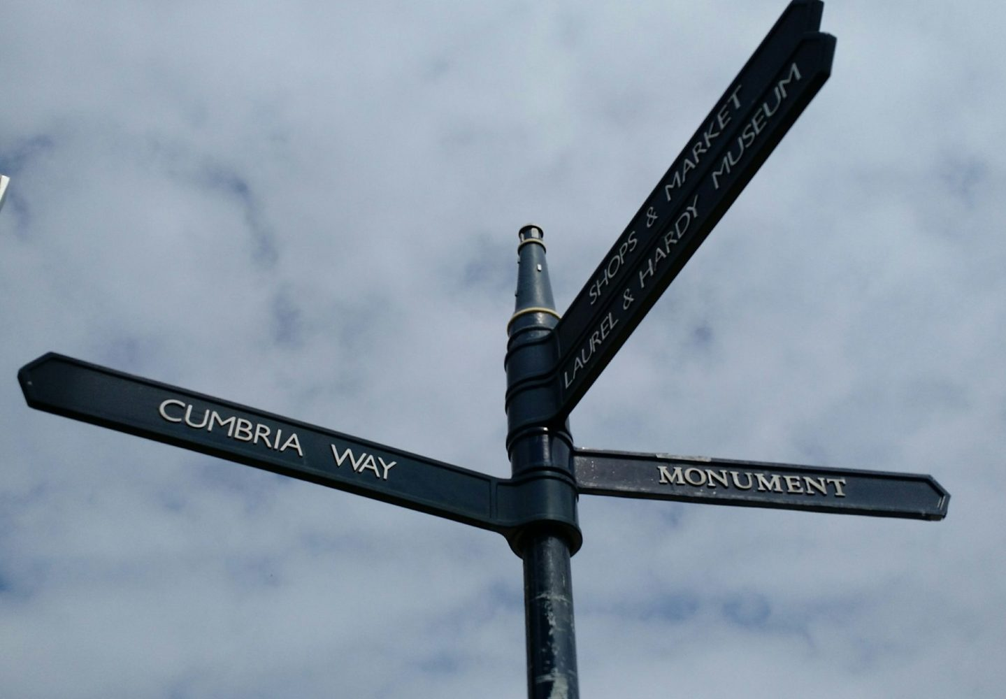Ulverston Cumbria Way Signpost