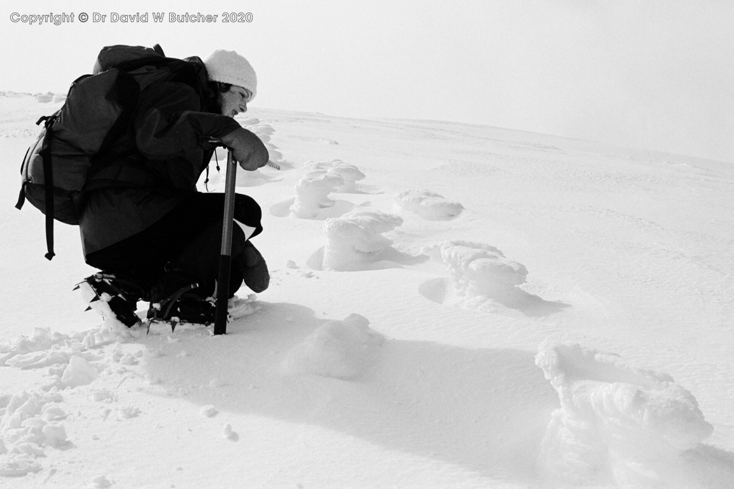 Stob a' Choire Mheadhoin Ice Footsteps, Fort William, Scotland