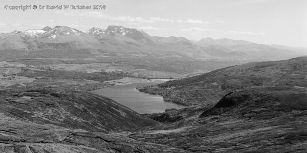Ben Nevis and Aonach Mor from Meall na Teanga, Fort William, Scotland