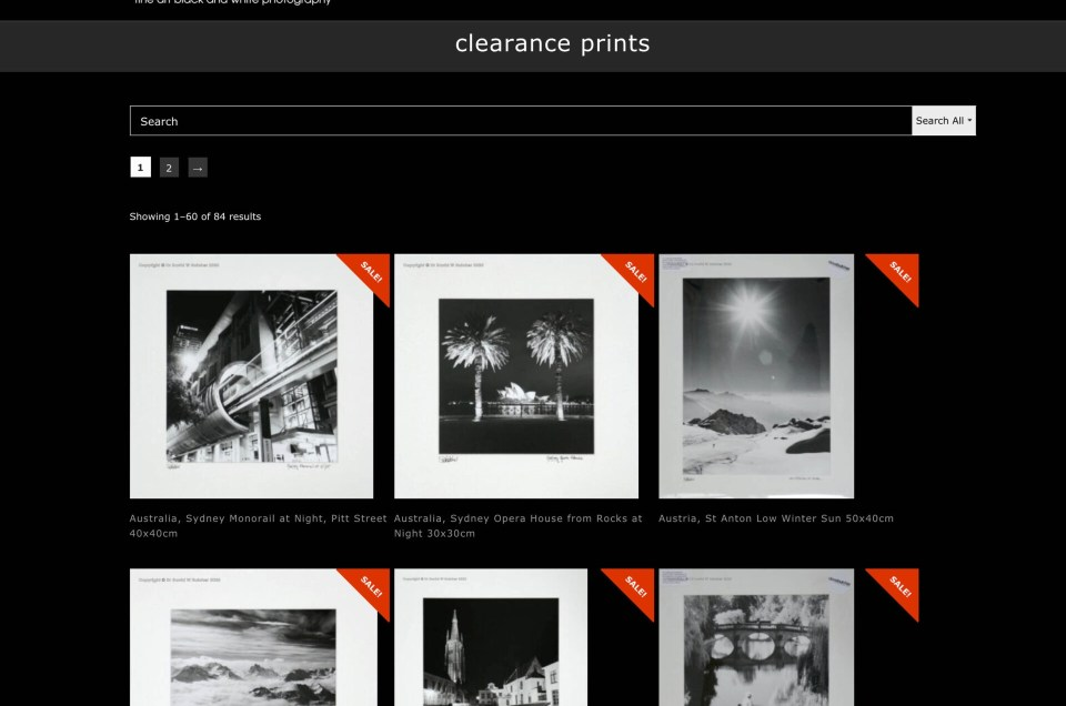 Clearance Prints Web Page