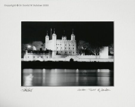 London Tower of London at Night by Dave Butcher