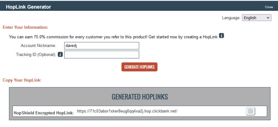 Make Money On Clickbank - Hoplink Generator
