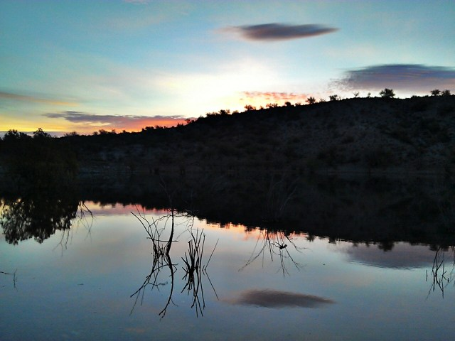 image of sunrise at Lake Pleasant