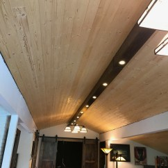 Led Lighting For Living Room Decorating With Red Accent Wall Beam Recessed Lights Dave Eddy To Get Started I Installed The 2x4 Stringers By Securing Them Screws Through Ceiling Joists Wires Seen Will Be Used Power Itself