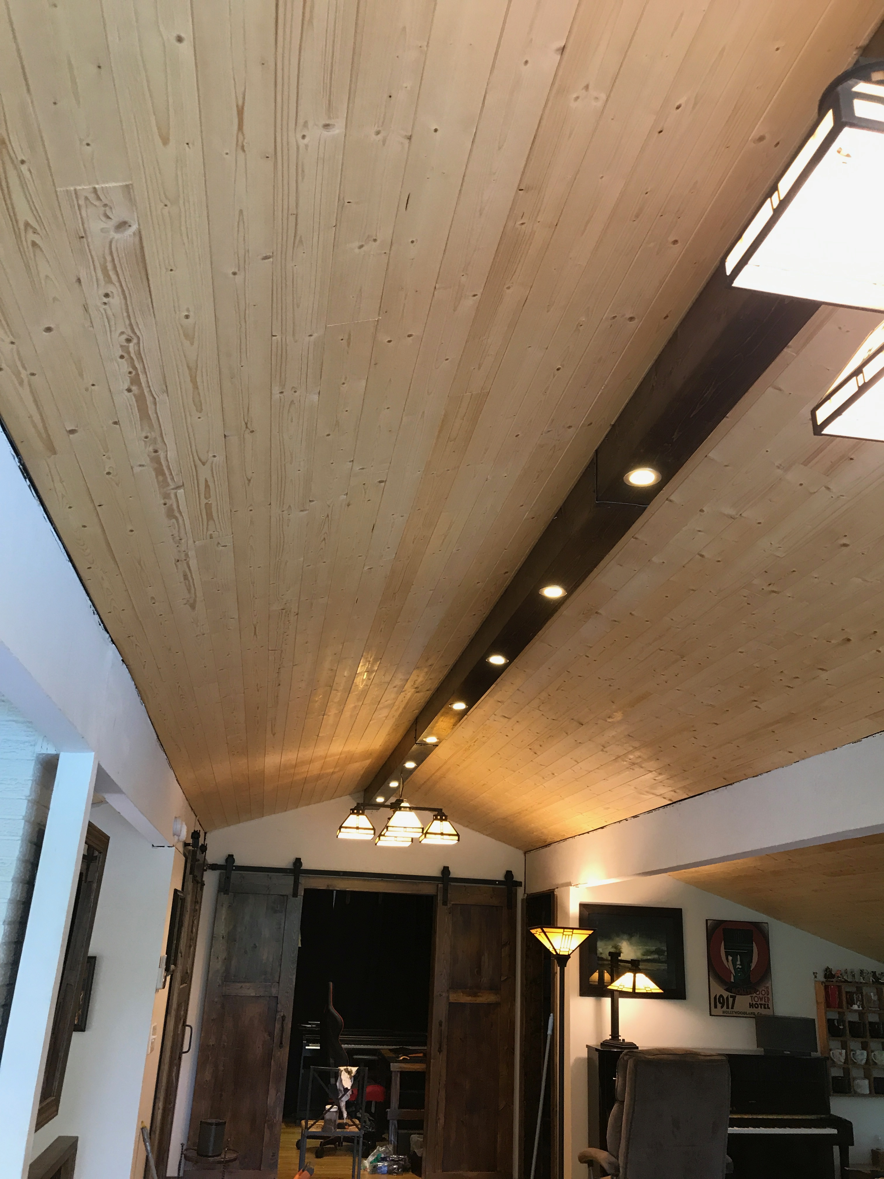 living room led lighting tall tables beam with recessed lights dave eddy to get started i installed the 2x4 stringers by securing them screws through ceiling joists wires seen will be used power itself