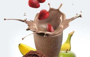 An image from the Shakeology website of a Chocolate Shakeology drink.
