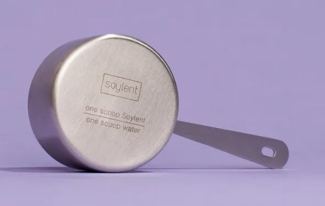 Stainless steel measuring cup from Soylent.