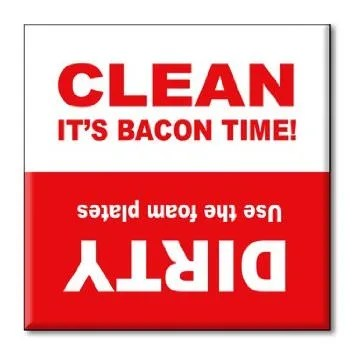 Bacon Time Dishwasher Magnet