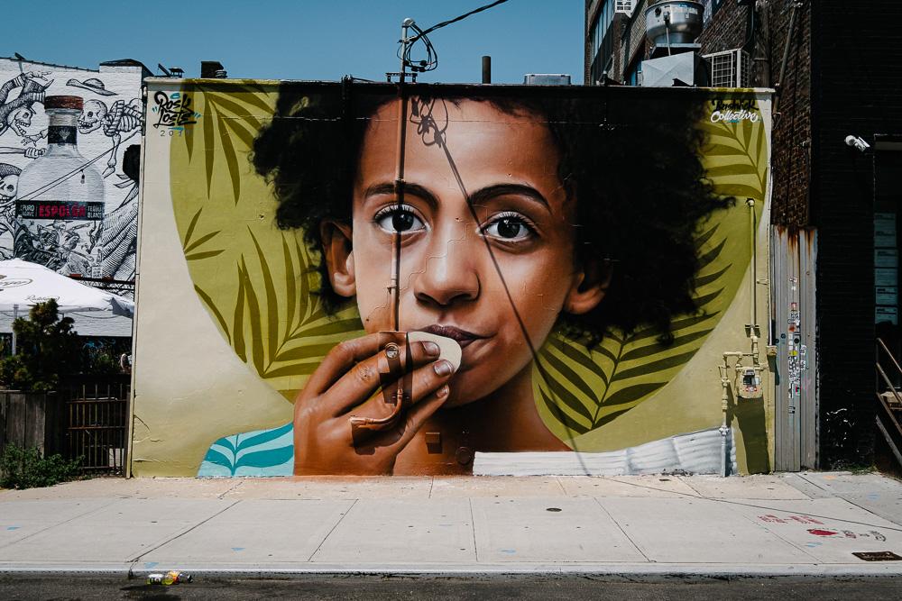 Street Art in Bushwick, NYC by Rosk and Loste
