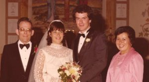 Kay softened up, but not much, after our 1980 wedding