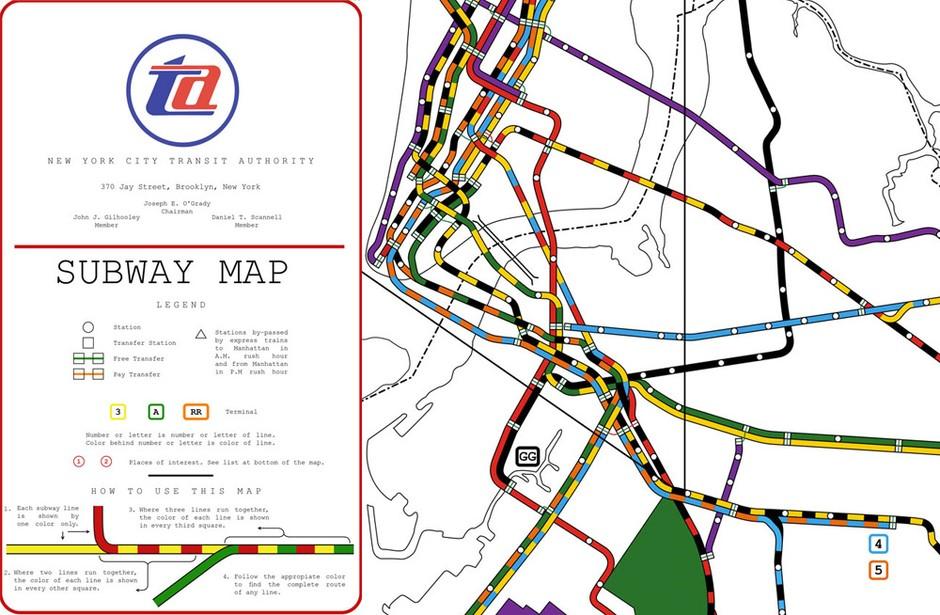 Nyc Subway Map Express Trains.Nyc Subway Map From 1964 Dave Kellam