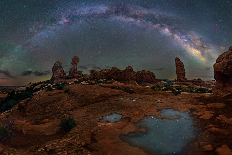 Water Pools At The Garden Of Eden Arches National Park David Lane Astrophotography