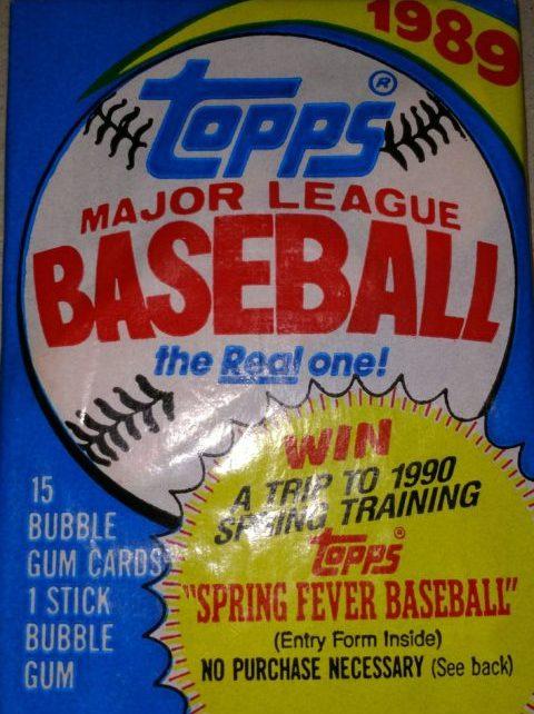 1989 Topps Baseball Pack