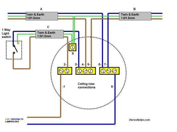 Kitchen Ceiling Light Wiring Diagram