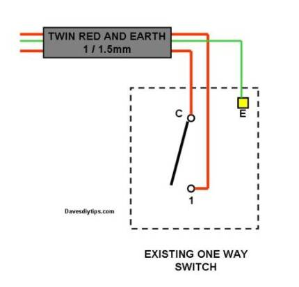 one way lighting circuit modified for two way switching dave\u0027s diyOne Way Light Switch Wiring Diagram On 1 Way Light Switch Diagram #13