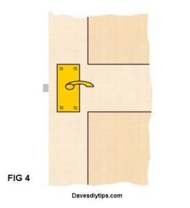 Fix door handles in position