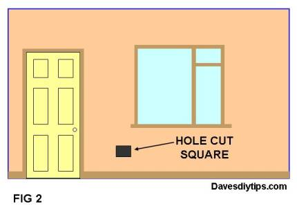 CUT THE HOLE SQUARE