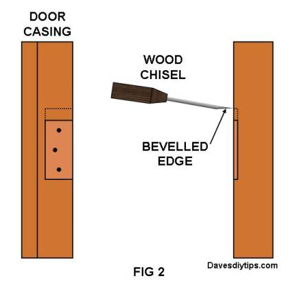 Use chisel with the bevelled edge against the wood that will be removed