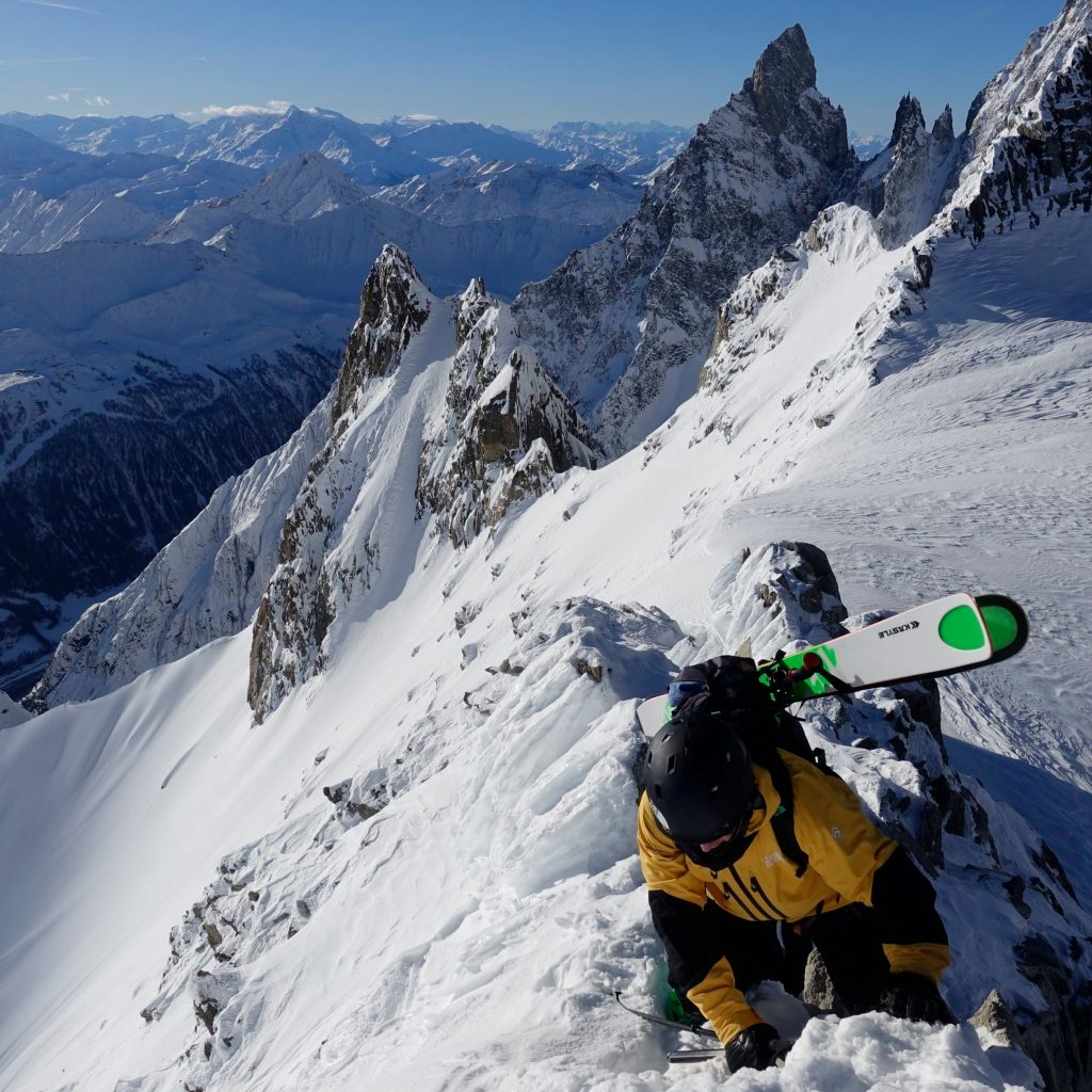 Skiing on the Skyway. Mountain Guiding Dave Searle