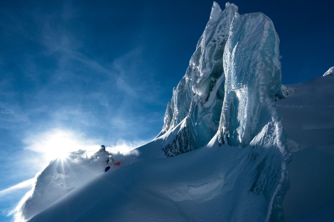 Freeride Skiing in the Alps