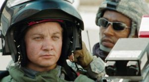 Jeremy Renner suits up