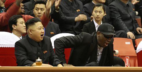 kim jong un and dennis rodman