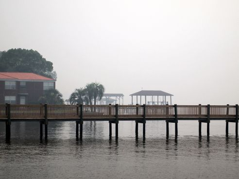 smoke on st. Johns river, jacksonville