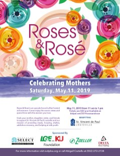 Roses & Rosé Full-page Ad for The Voice-Tribune